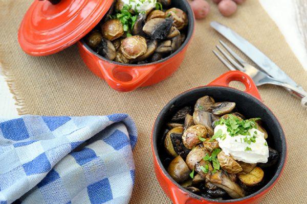 Cherry potatoes met champignons