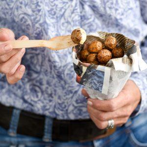 Cherry potatoes gefrituurd